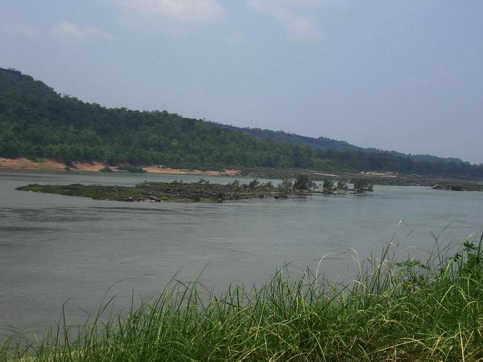 mekhong fluss in Khong chiam